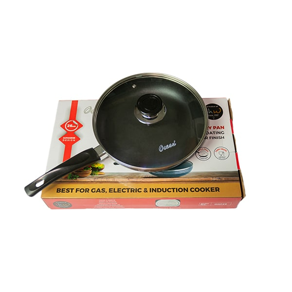 Fry Pan With Glass Lid 26cm Ocean ONF-26