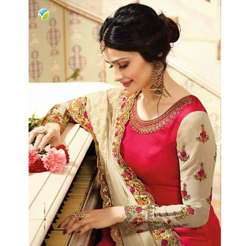 GORGET SALWAR KAMIZ GORGIAS EMBROIDERY KPR-7087