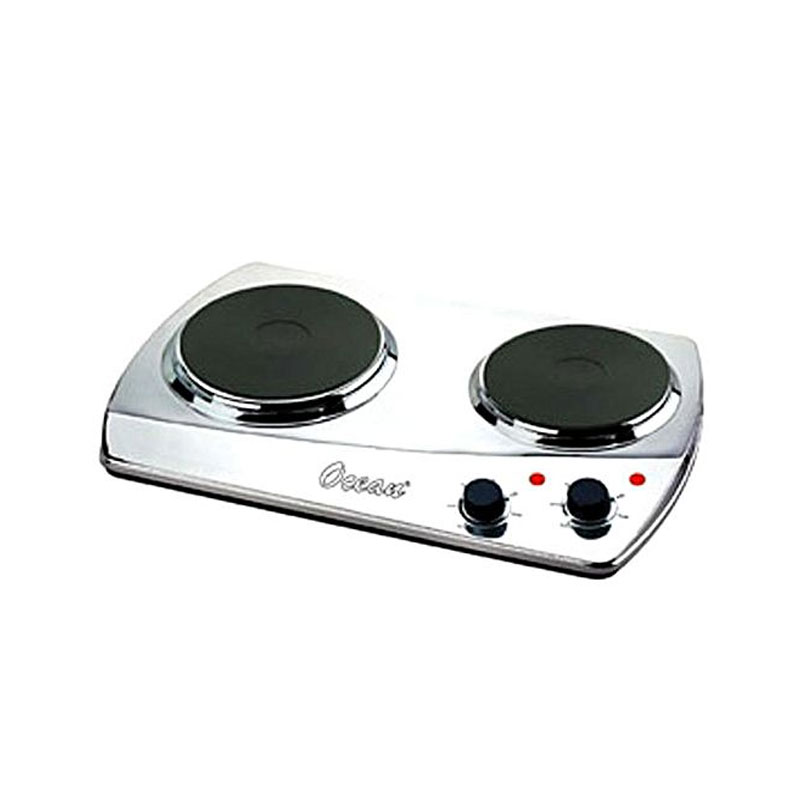 Electric Hot Plate Double Crome Silver 1500W Ocean OHP-2001-DW
